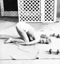 Marilyn Monroe Balasana Childs Pose