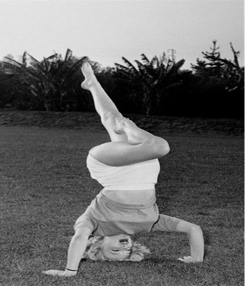 Marilyn Monroe Headstand Shirsasana VI